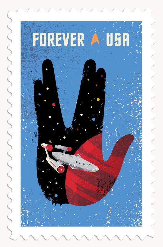 登場から50周年を迎える『スタートレック』の記念切手が米国で発売される。そのデザインには、登場人物の肖像を使用できないなど、厳しい規制があったという。