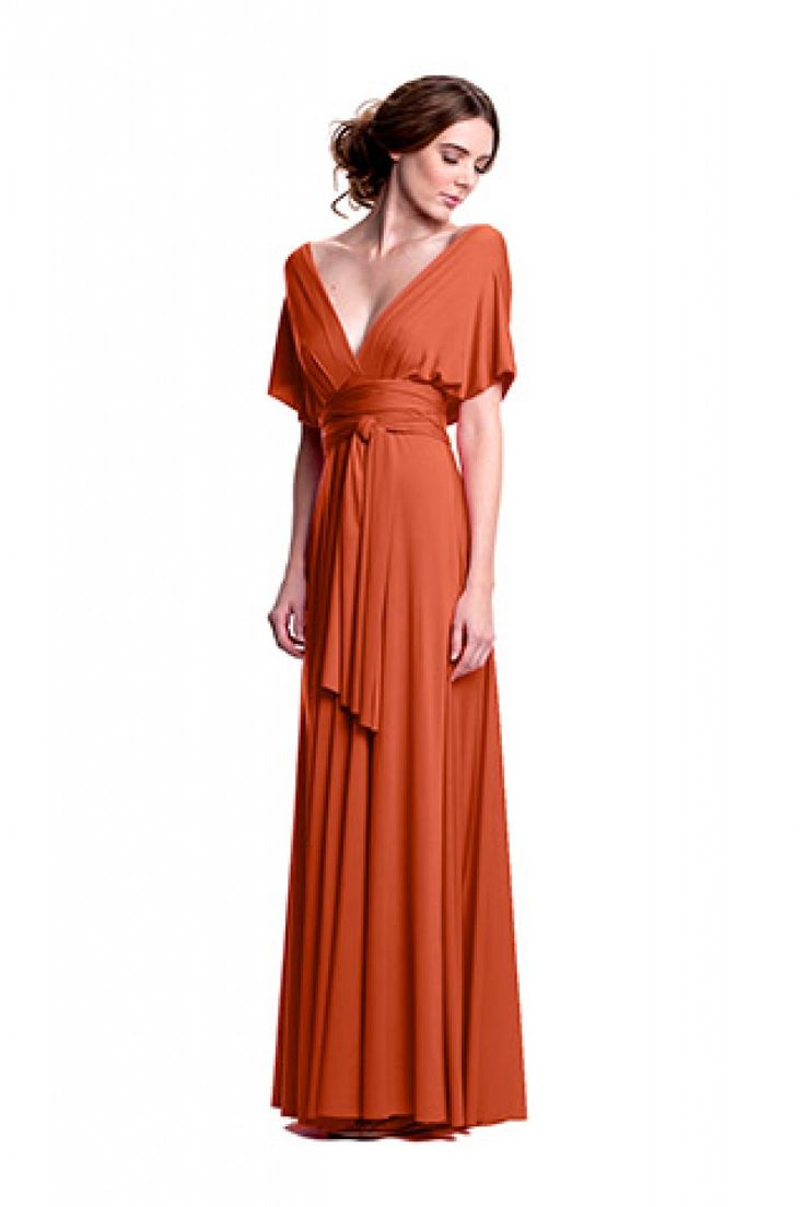 Sakura Burnt Orange Maxi Convertible Dress