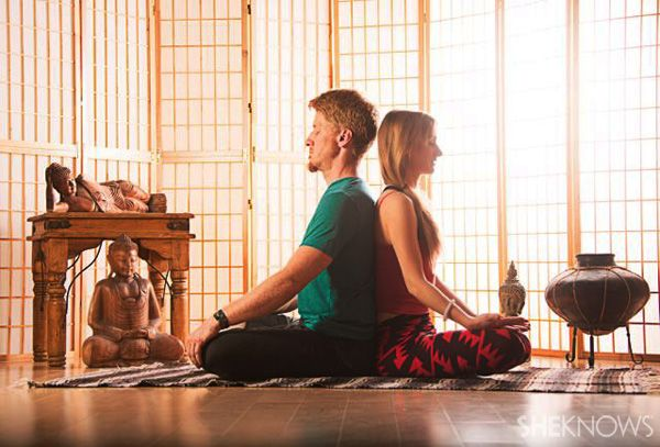 Partner yoga for beginners