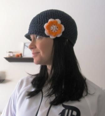 Detroit Tigers baseball beanie with a brim by okiedoke on Etsy, $20.00    I want this hat...so cute!!