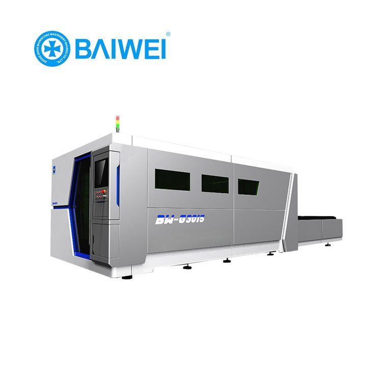 iron plate manual desktop cnc fiber laser cutting machine from Baiwei