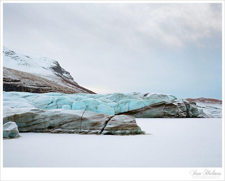 Glacier. Iceland. Mamiya Universal. Kodak Portra 400.
