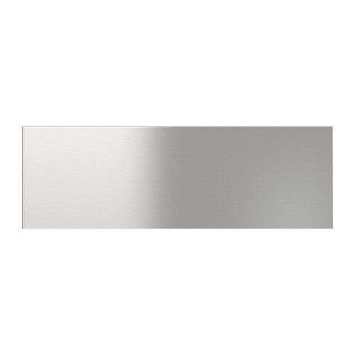 Grevsta Drawer Front Stainless Steel 60 X 20 Cm House