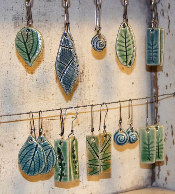 Leaf earrings with sterling wires by evinglenside, via Flickr