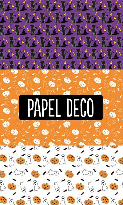 Para decoraciones de halloween. ¿Cuál de estos diseños les gustaría imprimir?  #halloween #PapelDeco #scrapbook #descargables