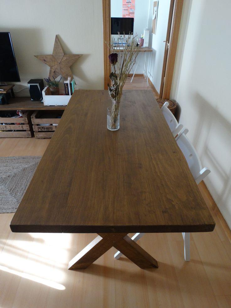 Mesa de comedor cottage mesa de comedor o de cocina hecha for Muebles el tresillo