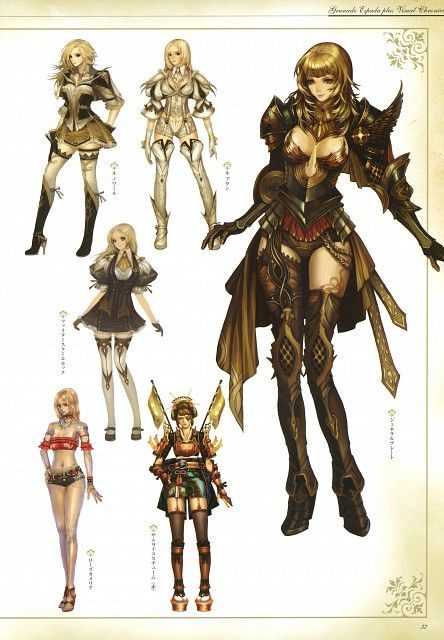 Yuck Character Design : Best images about granado espada on pinterest female