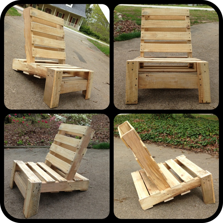 Cool chair made from repurposed pallet.  #Reclaimed wood
