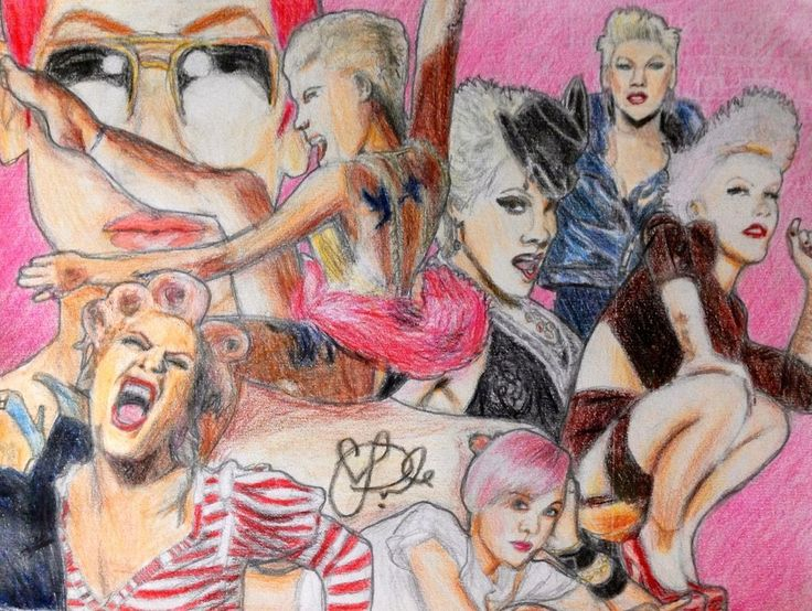 P!NK Drawing by Jamessinclair