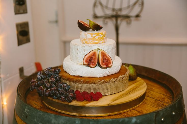 Cheese wheel wedding cake. Winery Wedding ideas Image: Cavanagh Photography http://cavanaghphotography.com.au