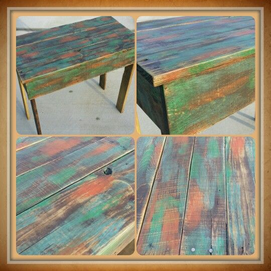 Made From Old Pallets. Chalk Painted, Stained Then Sanded. Sealed With  Lacquer. My First Camo Project! By The Rusty Nail Home Market