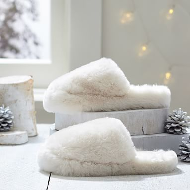 Faux Fur Slippers, Polar Bear #pbteen