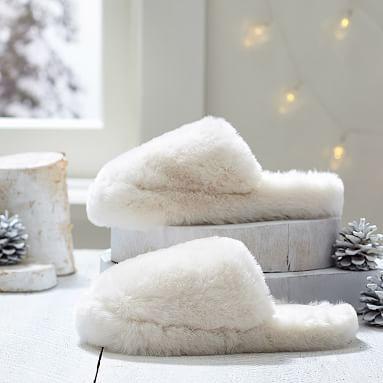 Faux Fur Slippers, Polar Bear #pbteen
