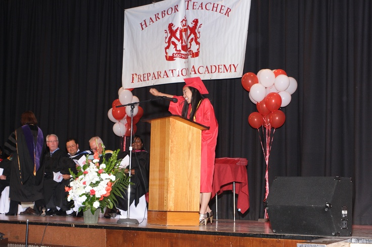 This is the seventh Commencement Exercise for Harbor Teacher Preparation Academy, with 100% graduation rate! Of the 95 graduating seniors, 63% of seniors qualified for the Golden State Seal Merit Diploma, 5% have a GPA above 4.0.  77% of students have a GPA above 3.0.  49% completed more than six AP classes.  96% completed at least one AP class.