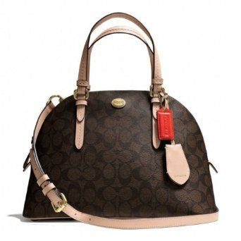 Yes-- I got me one!!! Coach Peyton Signature Leather Dome Satchel Brown 26184
