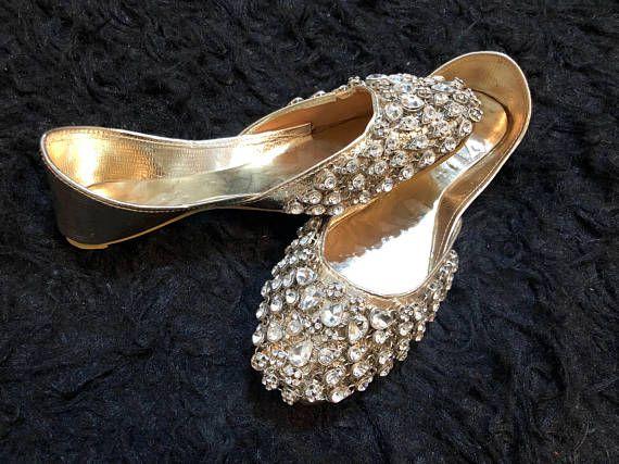 Silver Bridal Shoes Bridal Khussa Shoes Kundan Flat Shoes Silver