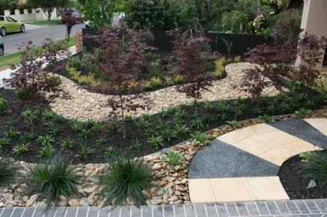 low maintenance front garden ideas australia no lawn - Google Search