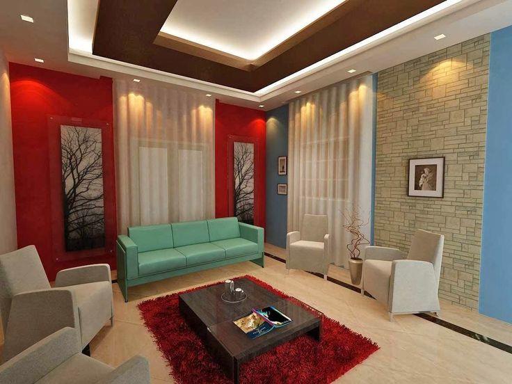 unique ceiling ideas | unique False ceiling modern living room interior designs