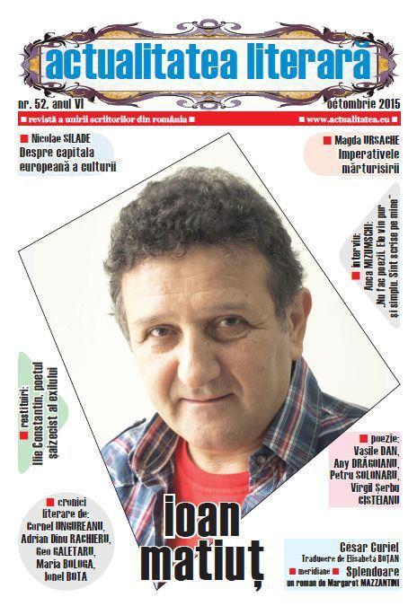 """Revista """"Actualitatea literară"""", editată de Societatea Culturală """"Lugojpress"""", cu sprijinul Consiliului Local al Municipiului Lugoj, a ajuns la numărul 52. De-a lungul celor peste cinci ani de existență și a celor 52 de apariții, revista condusă de poetul Nicolae Silade și-a urmat crezul cu care a pornit la drum, acela de a promova creația literară de calitate, fiind apreciată atât în țară, cât și în străinătate. În numărul 52 al revistei, semnează: Nicolae Silade, Cornel Ungureanu, Adrian…"""