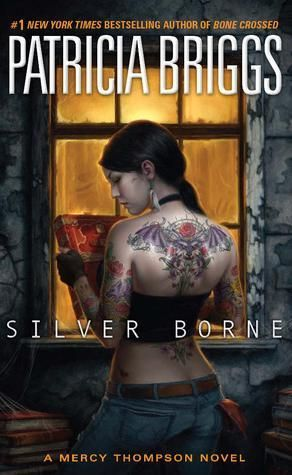 Silverborne, book 5 of the Mercy Thompson series, by Patricia Briggs.  I love how the romance between Mercy and Adam is developing.