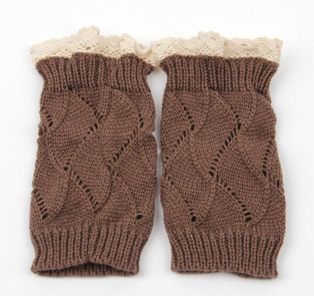Fashion 10pairs/lot crochet leg warmers lace trim short boot cuffs boot socks lace leg warmer for women 5colors available