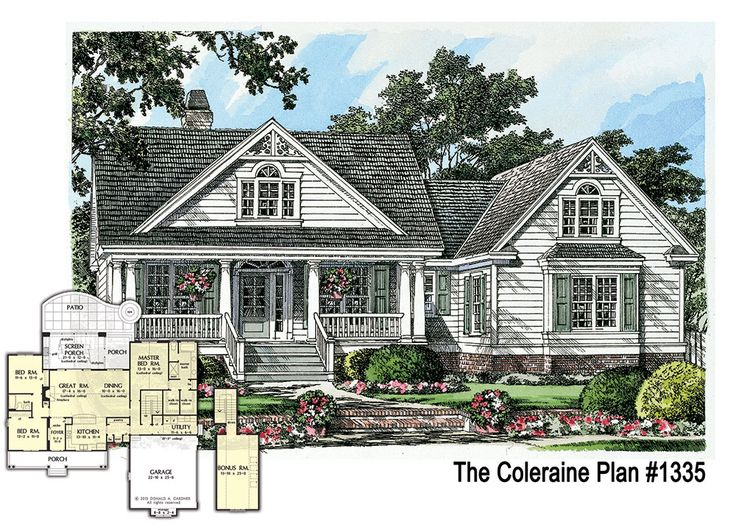 Brand new plan the coleraine 1335 charming small home for Brand new house plans