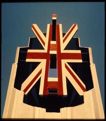Le Pavillon de la Grande Bretagne à l'Expo 67. Britain's Pavilion at Expo '67 Montréal, Québec. Designed by Sir Basil Spence, Bonnington and Collins, 1967