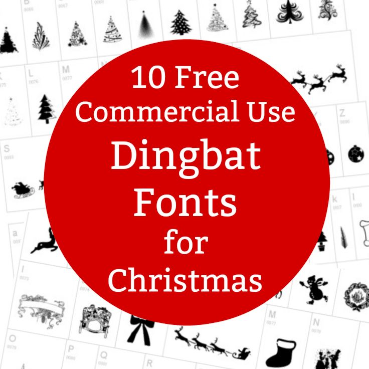 List of commercial use Christmas dingbat fonts that Silhouette Cameo or Cricut Explore or Makers crafters can use as cut files.