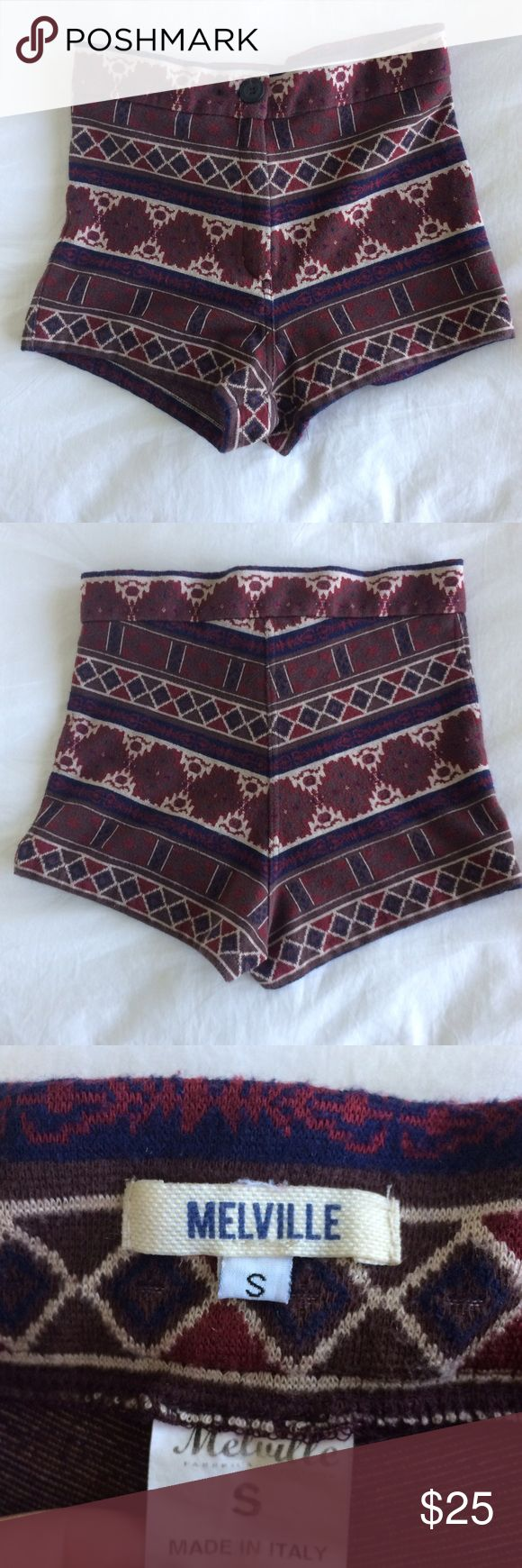 high rise aztec shorts adorable and soft high rise aztec / tribal patterned shorts from Brandy Melville (not LF). can be worn in the daytime or dressed up with heels at night. only worn twice and i always get tons of compliments on them! so flattering and fit very well. perfect for festival season, coachella lollapalooza, gov ball etc Brandy Melville Shorts