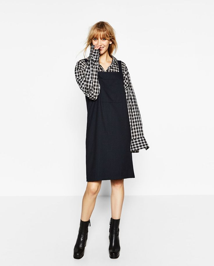 Image 1 of PINAFORE DRESS from Zara