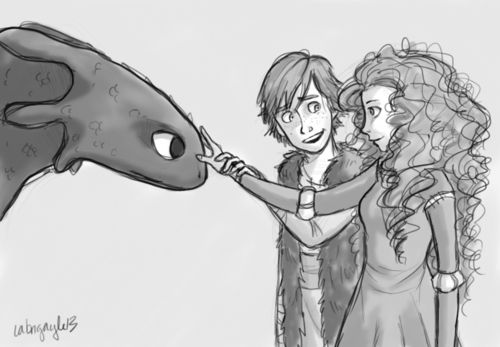 Hiccup and Merida... it would be so cool if there was a cross-over movie!