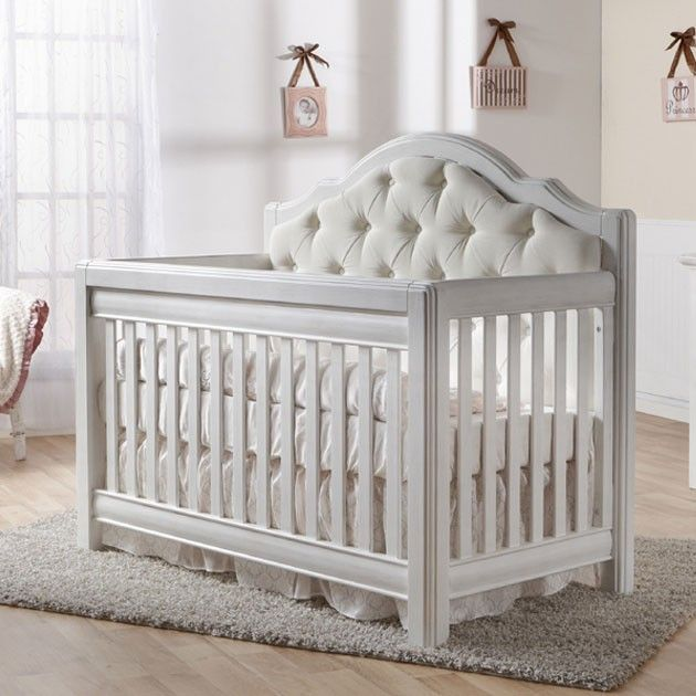 nursery necessities baby cribs cristallo forever crib vintage white with white panel at poshtots