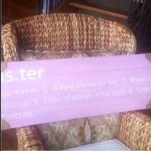 'Sisters' Definition Plaque