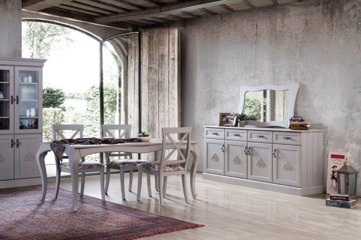 Modern görünüşü, Country çizgileri ile birleştirilerek tasarlanan Grey Yemek Odası alışılmışın dışına çıkmak konusunda iddialı!