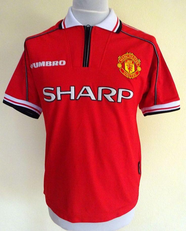 MANCHESTER UNITED 1998 1999 SHARP Original UMBRO Shirt Jersey 2000 MAN UTD Youth #Umbro #ManchesterUnited