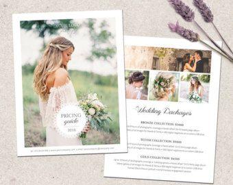 Wedding photography price list template. Marketing &