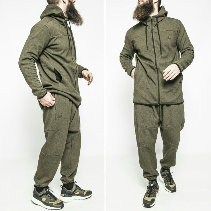Ensemble sport Pantalon usual fit dcjeans jogging et sweat capuche zippé KAKI.