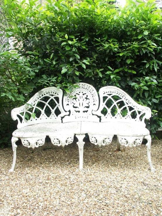A beautiful  garden bench