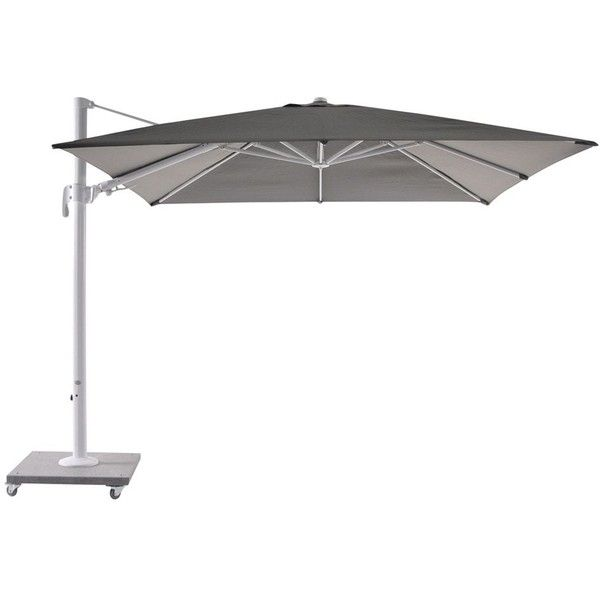 Bellini Home and Gardens Block White Palermo 10' Cantilever Parasol... (1,415 BAM) ❤ liked on Polyvore featuring home, outdoors, bellini, garden parasols, white parasol and cantilever parasol