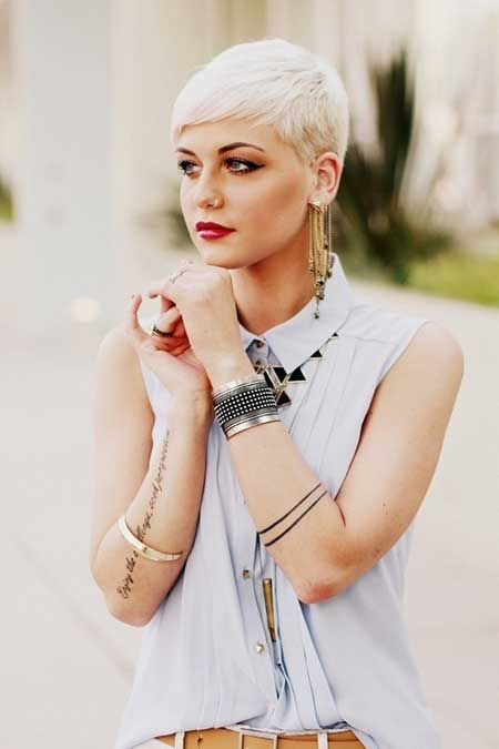 Super 1000 Ideas About Platinum Blonde Pixie On Pinterest Platinum Short Hairstyles Gunalazisus