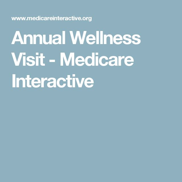 Best Medicare Annual Wellness Visits Images On