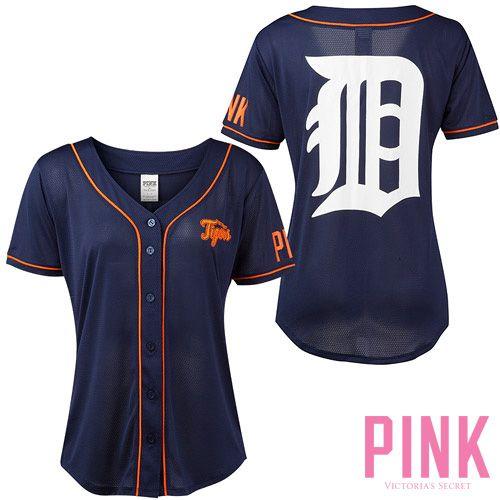 Detroit Tigers Mesh Jersey | Victoria's Secret PINK | MLB Licensed Apparel | #PINK #victoriassecret #detroittigers