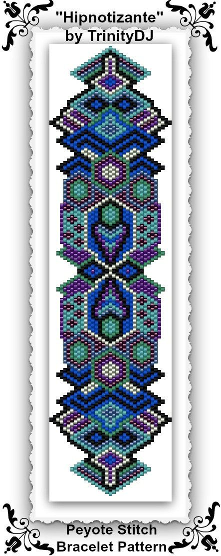 BPGEO040 Hipnotizante Peyote stitch bracelet by TrinityDJ