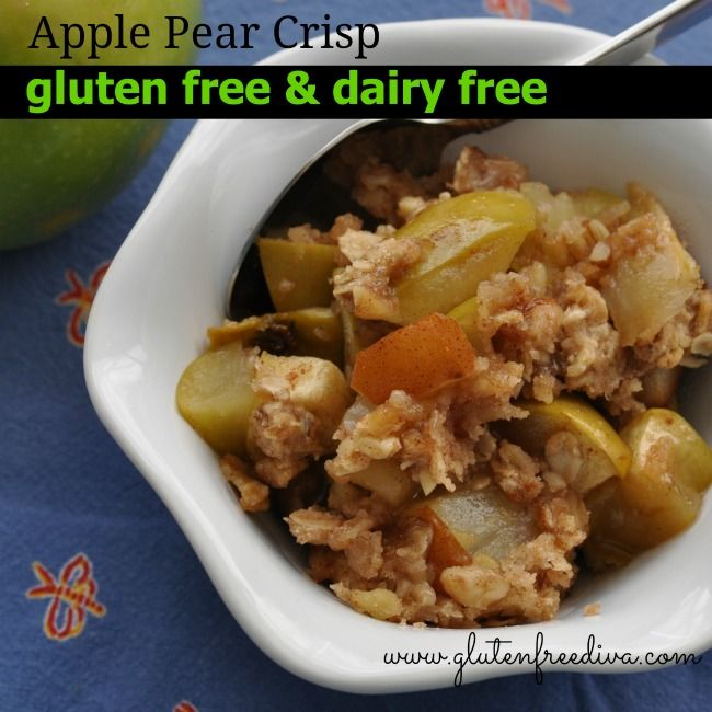 GF Cookbook Review & Contest, Apple Pear Crisp, Gluten Free & Dairy ...