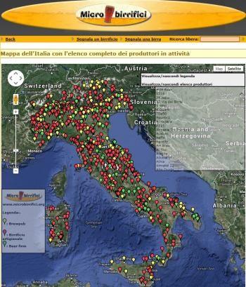 Oggi vi segnaliamo un link ad una mappa dell'Italia...divertente, utile ed interessante, imperdibile per tutti gli amanti della birra artigianale!
