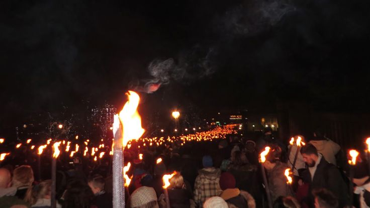 Hogmanay, Torchlight Procession, Edinburgh, Scotland, Things to do, Must do, Travel, New Years, Torch, Flame, Fire