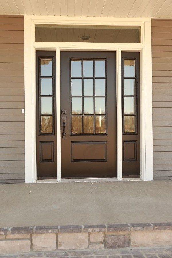 Most Stunning Farmhouse Front Door Design Ideas 19 Fiberglass Exterior Doors Front Door Design Exterior Front Doors
