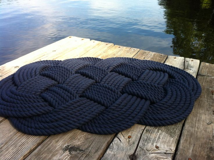 Nautical Decor - Nautical Bathmat - Navy Blue Cotton Rug by BeechHouseStudio on Etsy https://www.etsy.com/listing/250923111/nautical-decor-nautical-bathmat-navy