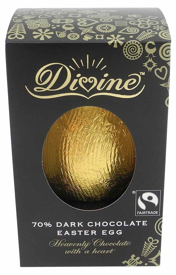 Påskägg i mörk choklad från IM Fair Trade. 39 kr/st.