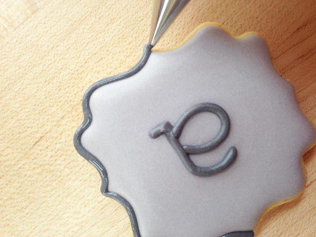 How To Make Mini Plaque Monogram CookiesSweetAmbs